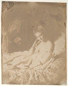 """Pierre Louis Pierson, """"L'Accouchée"""", Portrait of Comtesse de Castiglione, 1860's"""