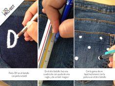 DIY fashion Paint jeans #DIY #doityourself www.idoproyect.com