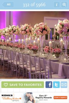 Tall vases for one centerpiece with rounded florals on top