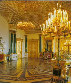 Malachite Room of the Winter Palace.