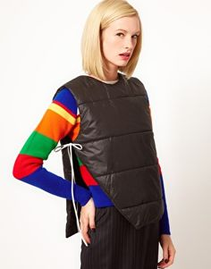 Image 1 of J W Anderson Padded Tie Side Gilet
