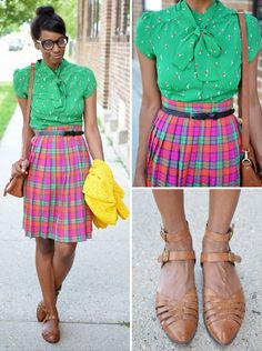 Plaid and pleated, bold and brilliant!