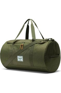 MUOOUM Night Wolf Moon Large Duffle Bags Sports Gym Bag with Shoes Compartment for Men and Women