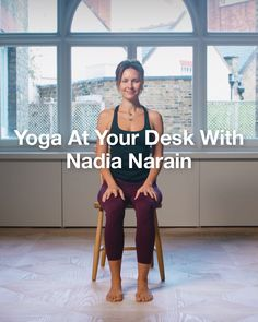 Running For Weight Loss Plan Discover Yoga At Your Desk with Nadia Narain Work at a desk? Take a moment to relax with Nadia Narains favourite seated yoga moves then discover our edit of activewear for yoga. Fitness Workouts, Yoga Fitness, Fitness Workout For Women, Pilates Workout, Desk Yoga, Chair Yoga, Yoga Videos For Beginners, Yoga Sport, Yoga Training