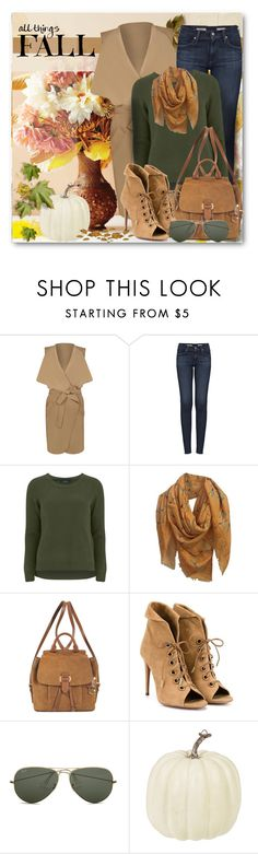 """""""All Things Fall"""" by brendariley-1 ❤ liked on Polyvore featuring WearAll, AG Adriano Goldschmied, VILA, Alexander McQueen, MICHAEL Michael Kors, Aquazzura, Ray-Ban and Fall"""