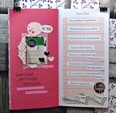 jehkotar: Traveler´s Notebook Spread: Kässäfestarit Travelers Notebook, Layouts