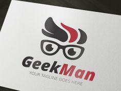 Geek Logo by Super Pig Shop on Creative Market