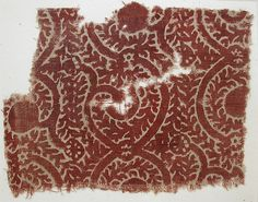 Date:     14th–15th century  Geography:     Made in India  Culture:     Islamic  Medium:     Cotton; block-printed  Dimensions:     7.38 in. high 5.75 in. wide (18.7 cm high 14.6 cm wide)  Classification:     Textiles-Painted and/or Printed  Credit Line:     Purchase, V. Everit Macy Gift, 1930  Accession Number:     30.112.33