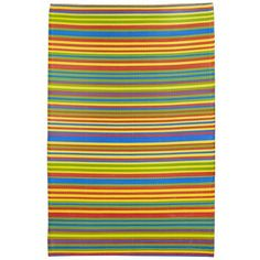 Bright Multi Stripe Outdoor Rug :: Pier 1 clearance sale $25.98