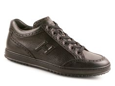 Hogan men's sneakers in black full grain Leather - Italian Boutique €209