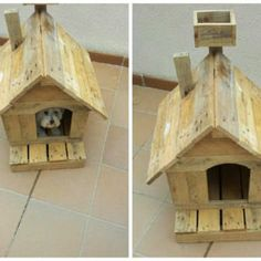 Dog House Made Of Reclaimed Pallets