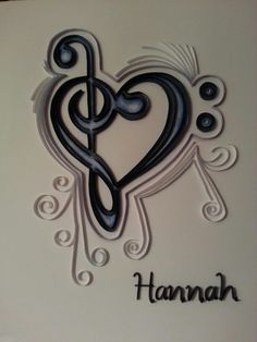 Quilled music notes