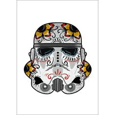 The Trooper Sugar Skull A4 Print -White Background - Jubly-Umph -  Print,
