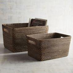 Lombok Brown Wicker Shelf Storage Baskets in two sizes. Wicker Couch, Wicker Trunk, Wicker Headboard, Wicker Mirror, Wicker Shelf, Wicker Bedroom, Wicker Furniture, Wicker Baskets, Wicker Purse