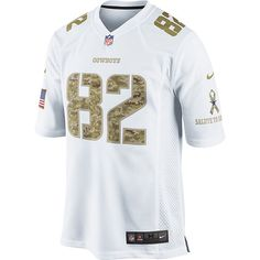 NFL Dallas Cowboys Nike Salute To Service Camo #82 Jason Witten Game Jersey