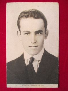 Harold Lloyd postcard Winkle Silent Film Actor young 1910s film movie photo pic
