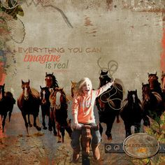 Everything You Can Imagine digital scrapbook page