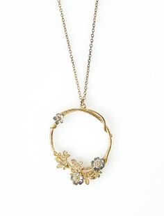 Alex Monroe Mixed Floral Hoop Necklace - KJs Laundry