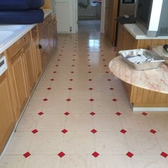 Vinyl floor after stripping and sealing with polish coats Surrey Vinyl Floor Cleaners, East Sussex, Vinyl Flooring, Surrey, Hampshire, Polish, Kids Rugs, Coats, Cleaning