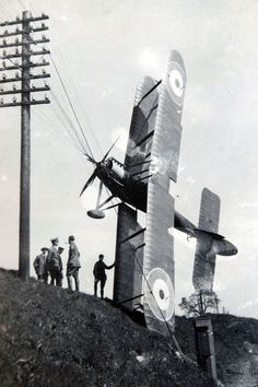 First World War flight school plane crash.