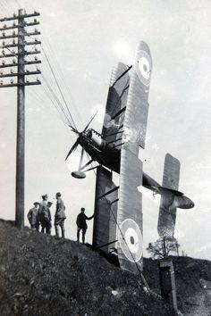 First World War flight school plane crash.