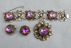 Schiaparelli Brooch Bracelet Earring Vintage Set by HighClassHighway, $650.00