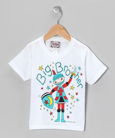 Take a look at this White & Blue 'Big Brother' Tee - Toddler & Boys by I'm Yours on #zulily today!