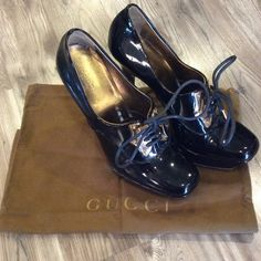 Gucci platforms 5 inch heel with 1 inch platform Gucci patent leather lave up platforms! Comes with dust bag Gucci Shoes Platforms Tap Shoes, Dance Shoes, 5 Inch Heels, Gucci Shoes, Fashion Tips, Fashion Trends, Fashion Design, Platforms, Patent Leather