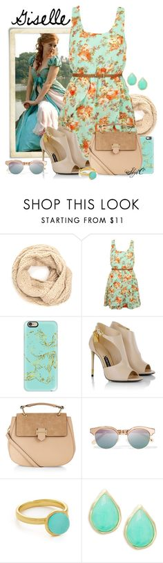 """""""Giselle - Spring - Disney's Enchanted"""" by rubytyra ❤ liked on Polyvore featuring Casetify, Tom Ford, Accessorize, Le Specs, Alexis Bittar, Karen Kane, disney, disneybound, enchanted and Giselle"""