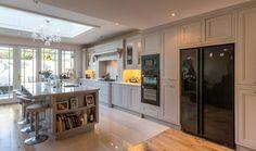 Nolan Kitchens - Signature In-frame Kitchen Range American Fridge Freezer Built In, American Fridge Freezers, Kitchen Orangery, Open Plan Kitchen Living Room, Kitchen Decor, Kitchen Ideas, The Hamptons, Layout, Building