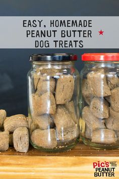 Check out the link for the recipe! Your doggo will thank you for making these puppy friendly cookies! They're simple to make and doggos love them! Peanut Butter Dog Treats, Best Peanut Butter, Homemade Peanut Butter, Dog Biscuits, Buckwheat, Mason Jars, Doggie Treats, Cookies, Baking