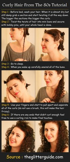 Curly Hair From The 80s Tutorial | Pinterest Tutorials I have naturally curly hair but this is good to do to touch up the flattened curls.