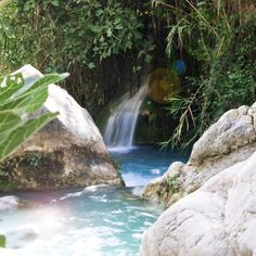 If noisy beach bars and crowded hotel pools aren't your thing, you can still cool down while discovering one of the few natural pools in and around Spain. Spain Road Trip, Hotel Pool, Crystal Clear Water, Beach Bars, All Over The World, Natural Beauty, Summertime, Waterfall, Places To Visit