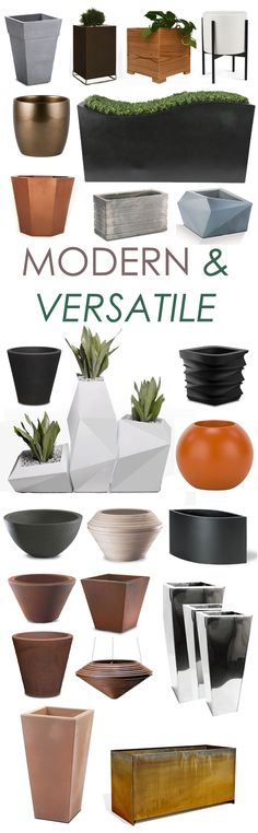 Urbilis' modern patio planters offer a wide variety of sizes, shapes and colors! Enjoy the selection of neutral tones allowing you to place these garden containers in any setting.