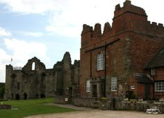 Tutbury Castle, England. Home and prison of Mary Queen of Scots in the 16th century.