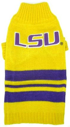 Let your furry football fan cheer on their favorite team in this cozy LSU Tigers Pet Sweater. The perfect everyday doggie sweater for the Furry Fan. Ncaa Apparel, Pet Dogs, Pets, Doggies, Lsu Tigers, Dog Sweaters, Dog Supplies, Pet Accessories, Dog Care