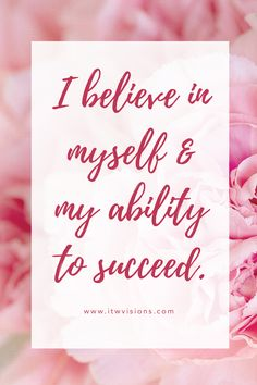 I believe in myself and the ability to succeed. daily affirmation quote to help motivate and inspire you in personal life or business. focus on where you want to go not on what you fear is a great quote to keep in mind when you need a little push in the right direction or motivation. This inspiration quote is one of my favorites... I always realize that success comes with facing our fears and it is okay to make mistakes. hand lettered motivational quote, inspirational quote, quote of the…