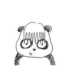【一日一大熊猫】206.12.24 さすがに伸ばしっぱなしの髪をカットしてもらいました。 相変わらず「こうして欲しい」と表現出来ないのでお任せです。 #パンダ #髪