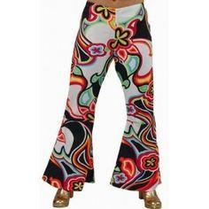Déguisement Hippie Pantalon Fantasy Femme Deluxe