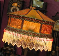 Stunning beaded lampshade