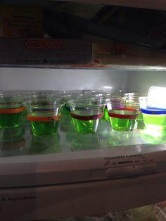 Easy! TMNT bracelets and jello! We used jolly rancher green apple jello :)