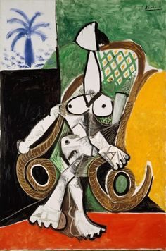 AGNSW collection Pablo Picasso Nude in a rocking chair (1956) 66.1981