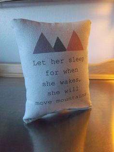 Baby girl gift, pillow, cotton throw pillow, adventure nursery decor, baby shower gift, new baby gift, toddler girl bedroom decor, birthday gift Cotton canvas complete pillow, machine wash cold, small