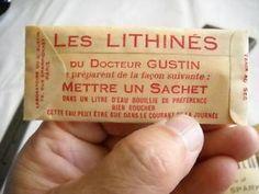 Le lithiné. Dans les années 50-60, boisson gazeuse préparée à la maison, à base d'eau dans laquelle on dissolvait, pour un litre, un sachet de…