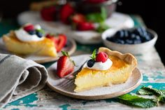 Buttermilk pie is an old-fashioned Southern dessert that has been loved for generations. Much like a chess pie, this dessert includes a buttery, flaky crust and a rich, tangy, lemon custard filling. Serve each slice with a dollop of whipped cream and fresh berries for a simple and delicious homemade treat! This light, creamy, and refreshing lemon pie is an easy made-from-scratch dessert that's perfect for just about any occasion. Whether you're hosting a summer picnic, attending a church…