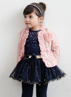 Fashion 3pcs Baby Girls Clothes Kids Toddler Infant Children Top Coat+T-shirt+Skirt DressTutu Outfit Set Dresses Ropa De Bebe