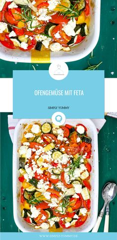 Oven vegetables with feta - Essen Rezepte - Vegetarian Grilling Recipes, Vegetable Recipes, Vegetarian Recipes, Healthy Recipes, Simple Recipes, Oven Vegetables, Veggies, Simply Yummy, Clean Eating