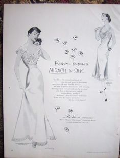 Friendly 1951 Rogers Womens Lingerie Nylon Night Sorcery Nightgown Gown Ad Advertising
