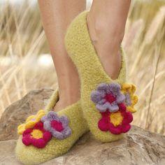 Come fare pantofoline con lana da infeltrire ai ferri - Istruzioni Italiano d49d077bc6ab