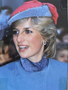 November 17, 1983: Princess Diana on a walkabout during her visit to The British Deaf Association Headquarters in Carlisle, Cumbria.